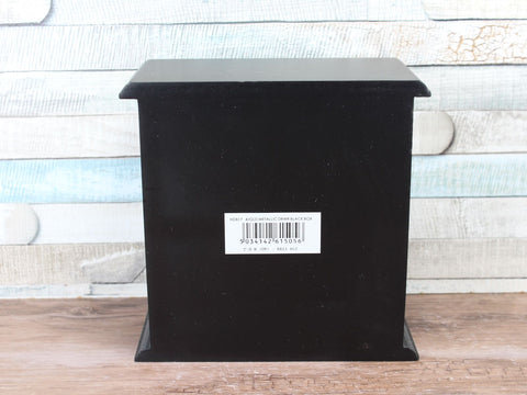 Metallic 4 Ceramic Drawer Black Wooden Jewellery Box Choice of 3