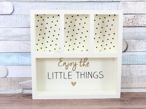 Absolutely Fabulous Enjoy The little Things Cream Jewellery Display Box