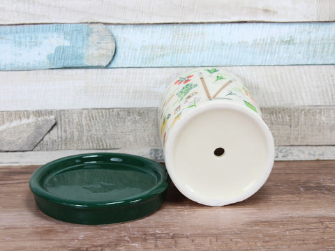 The Vegetable Patch Herb Pot & Dish Ceramic