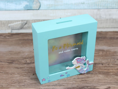 Wooden Mermaid Money Box Frame