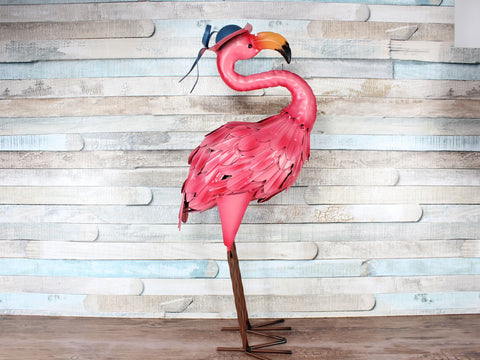 Large Metal Flamingo Garden Ornament choice of 2