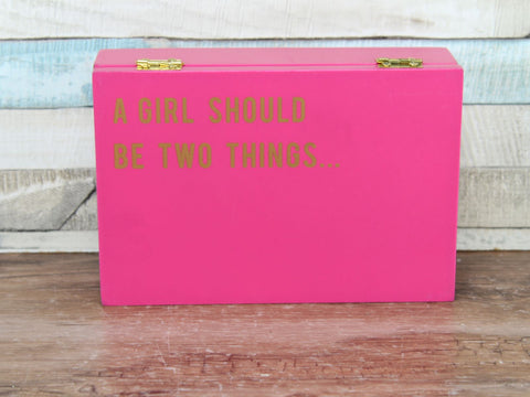 Cloud Nine Large Secret message box Pink - Girl Classy Fabulous