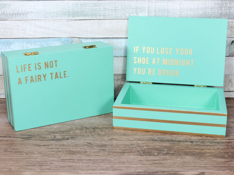 Cloud Nine Large Secret message box Mint Green - Fairy Tale Drunk