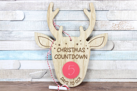 Reindeer Christmas Countdown Sign with Chalk