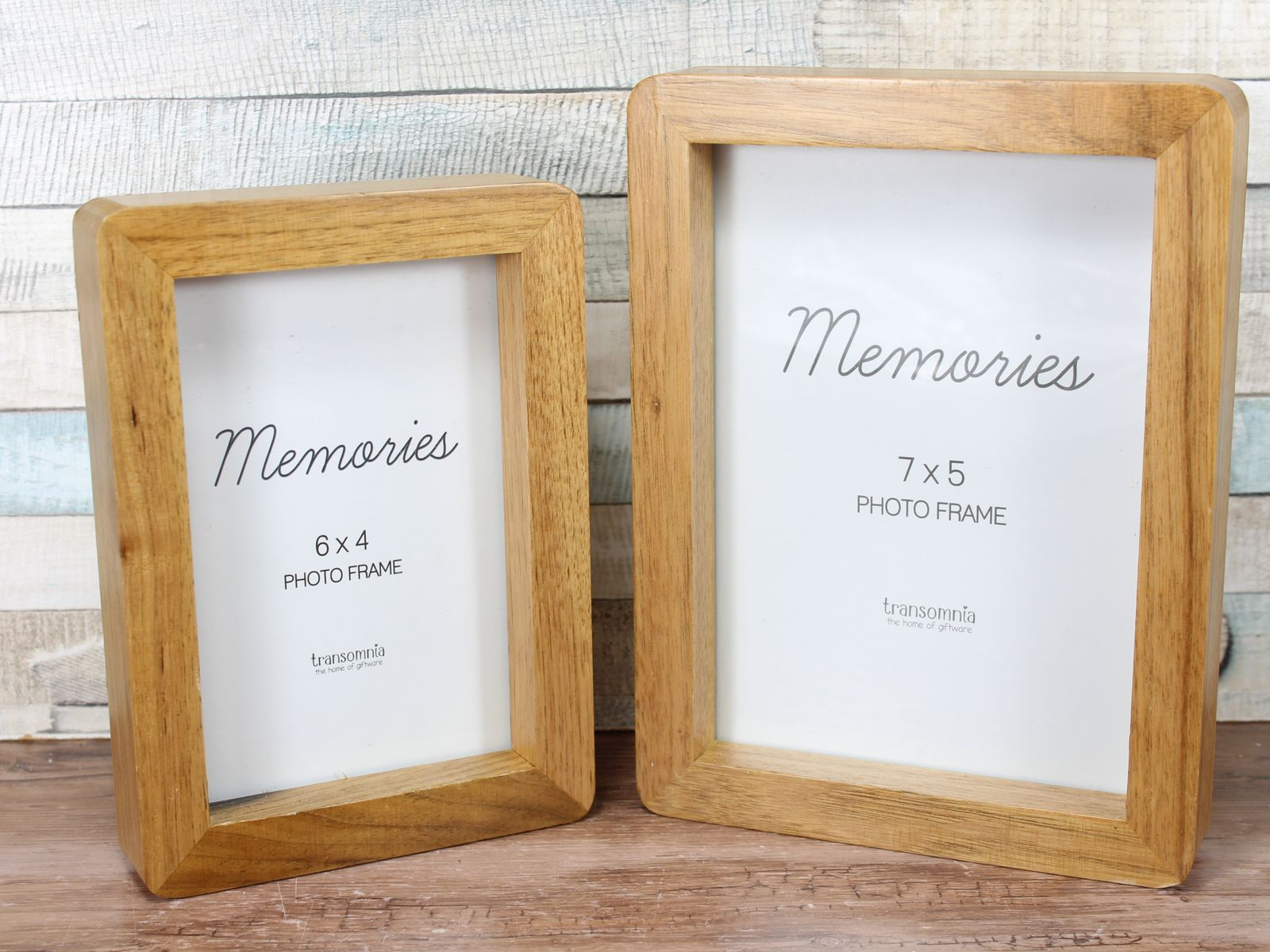 Oxford Oak Freestanding Curved Edge Photo Frame 6x4 Or 7x5 For My