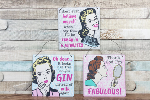 Retro metal signs choice of 3