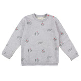 Sweat Gris Chat & Souris