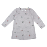 The perfect winter dress for girls from 12months to 8years. Complementary design for siblings look.