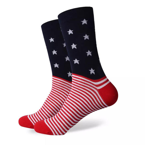 Stars & Stripes Socks Men's Socks Novelty Socks