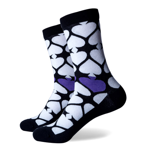 Ace of Spades Socks | Novelty Socks | Fun Dress Socks | SoKKs.com