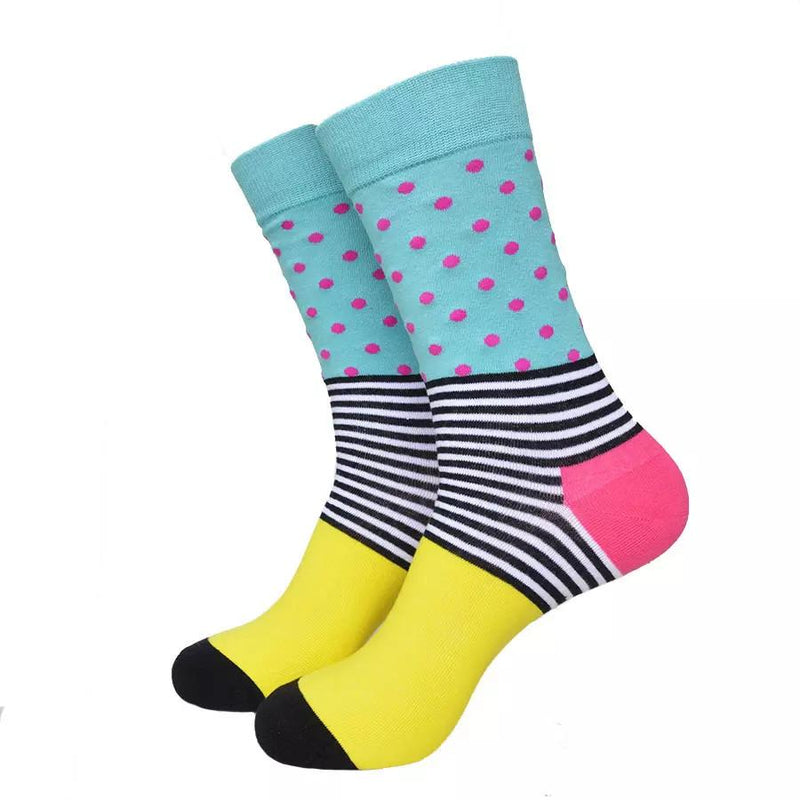 The Bleeker Socks | Polka Dot Striped Socks | SoKKs.com