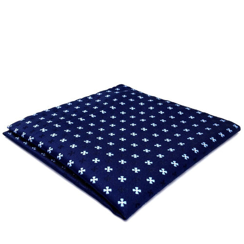 Navy Floral Silk Pocket Square | 100% Silk Pocket Square | SoKKs.com