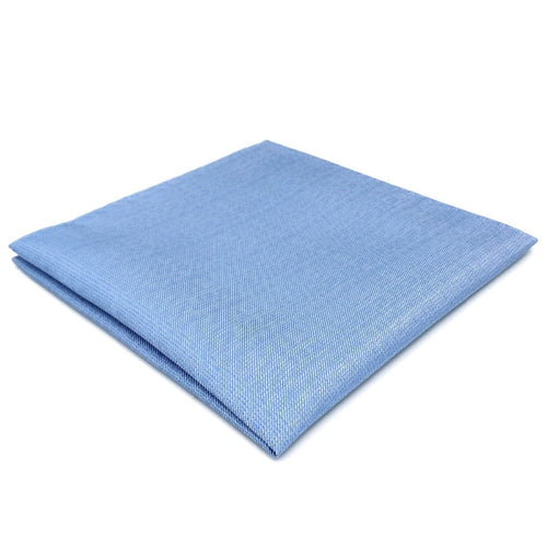 Light Blue Solid Silk Pocket Square