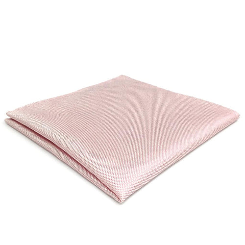 Solid Pink Silk Pocket Square