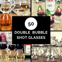 Double Bubble Shot Glasses (50 pcs)
