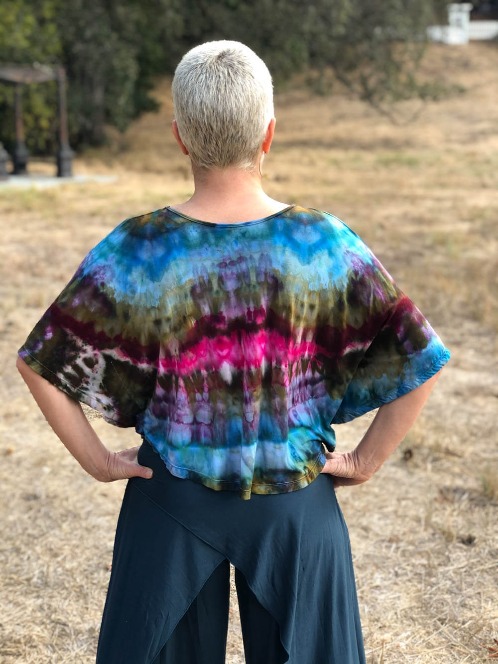Ice Dye Flutter Top