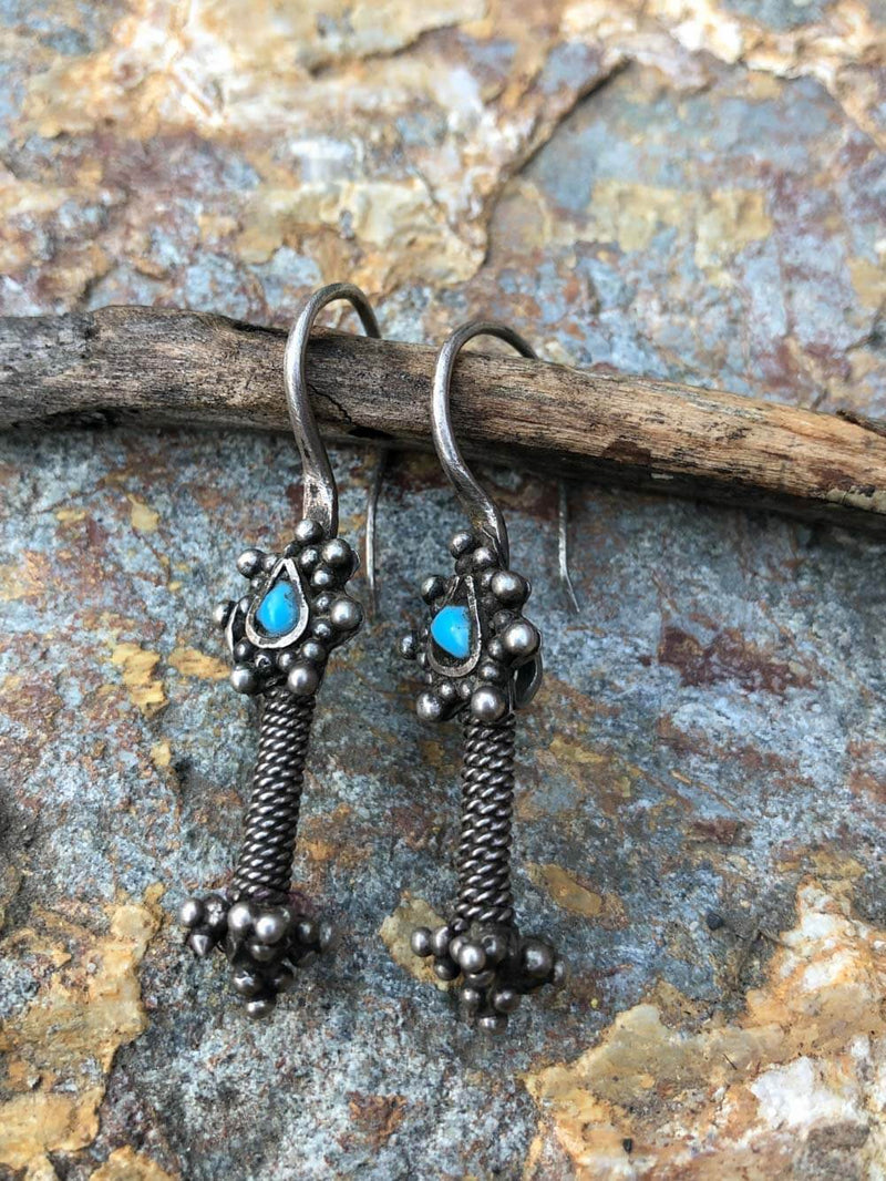 Tribal Glass Earring