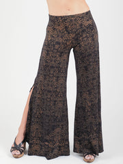 Snake Lace Slit Pants