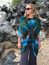 Load image into Gallery viewer, Ice Dye Gathered Kaftan