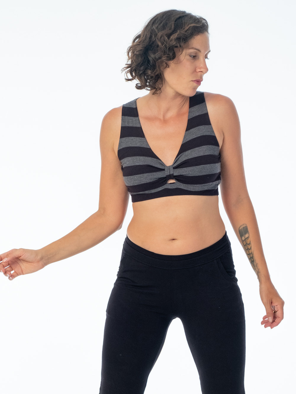 Stripe Twist Bra Top