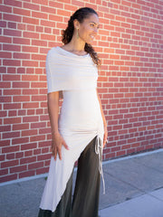 Cowl Ruched Tunic