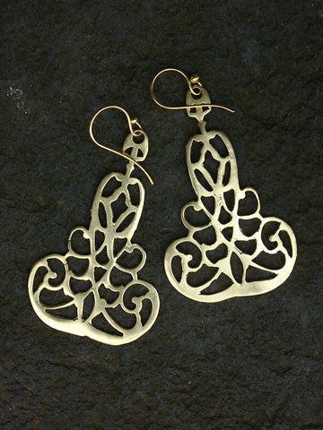 Chime Earrings in Brass