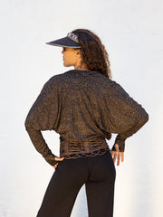 Snake Lace Print Loose Shrug