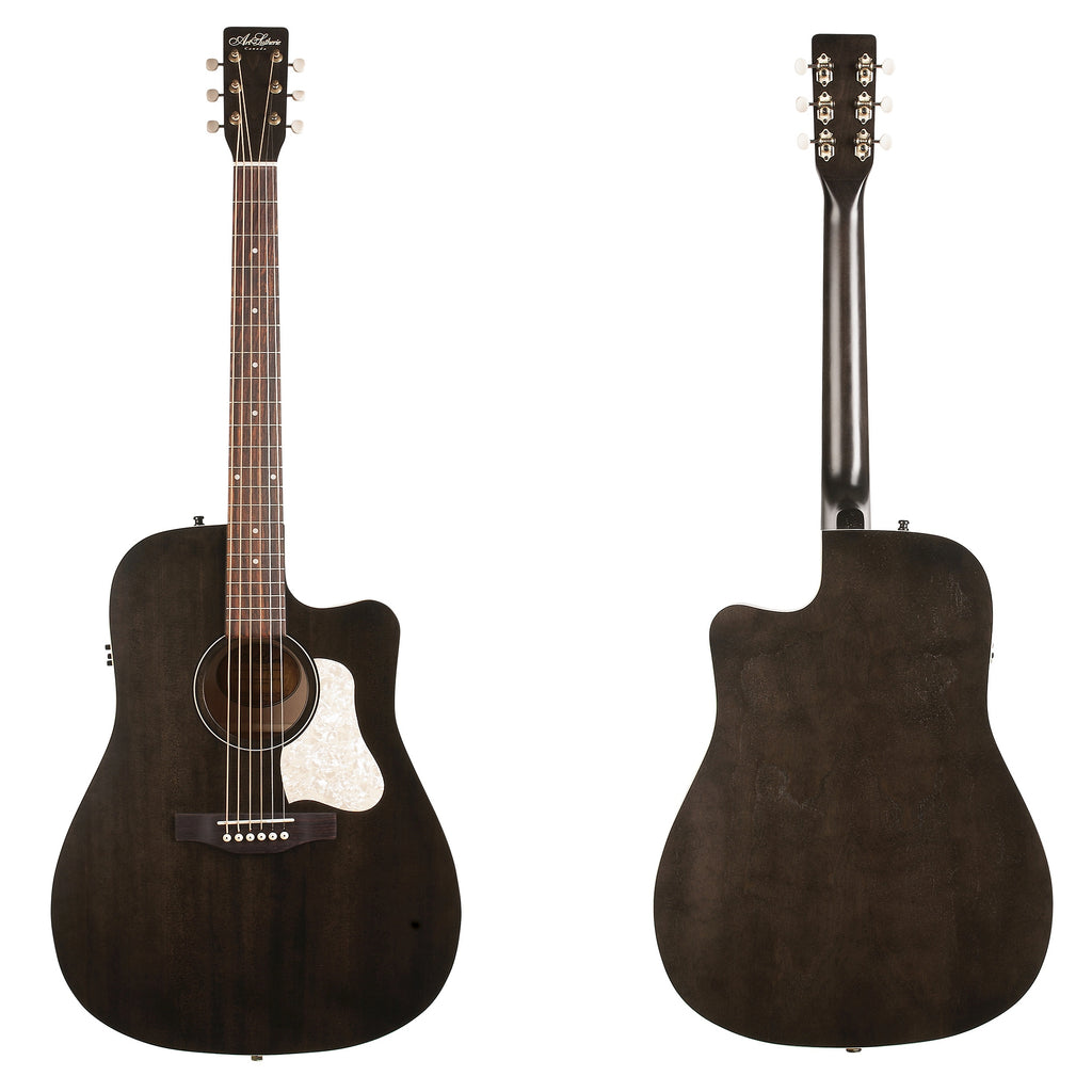 Art & Lutherie Americana Faded Black Q1T CW Westerngitarre