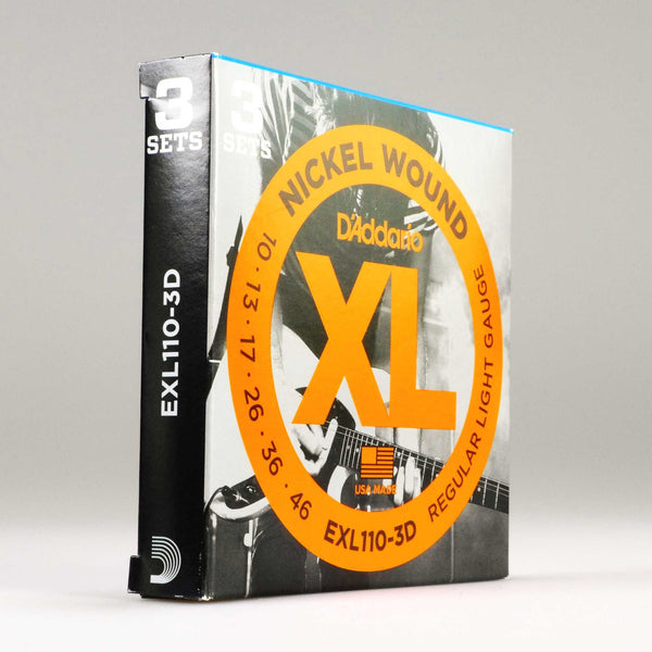 D'Addario EXL110-3D Regular Light (3er Pack)