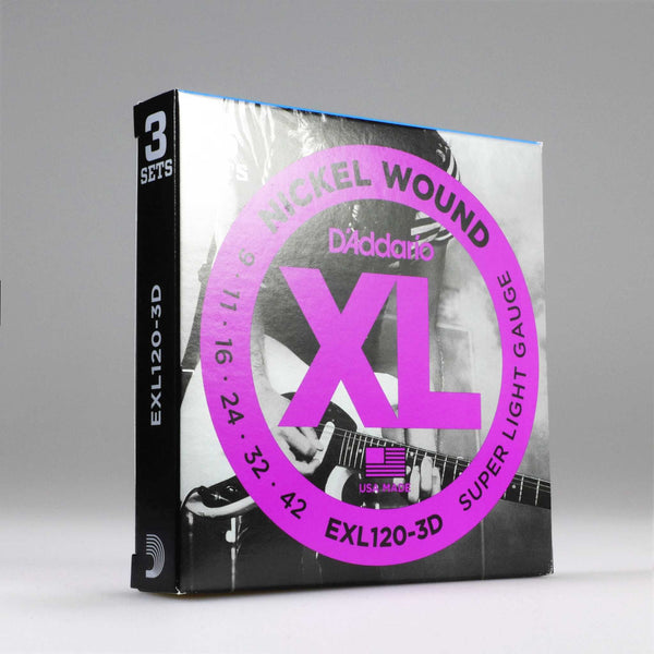 D'Addario EXL120-3D Super Light (3er Pack)