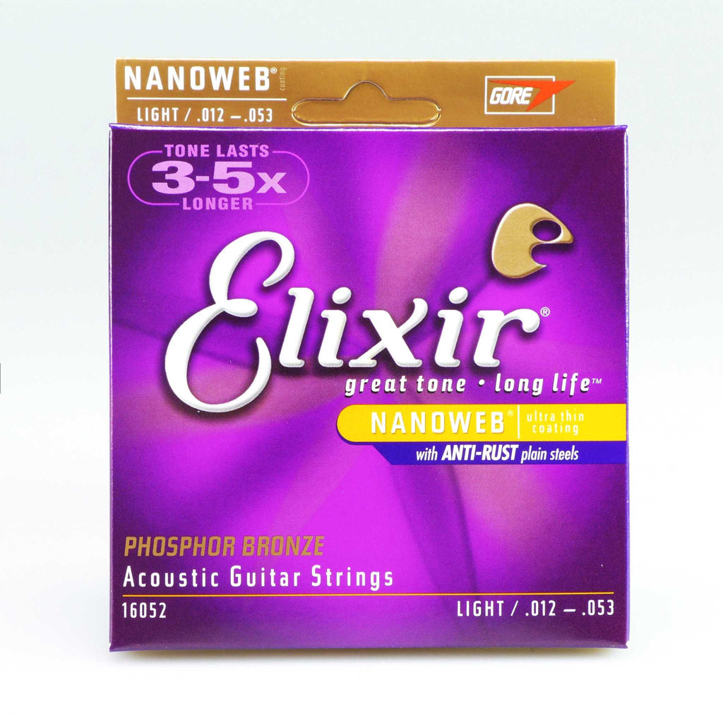 Elixir 16052 Nanoweb Light Phosphor Bronze