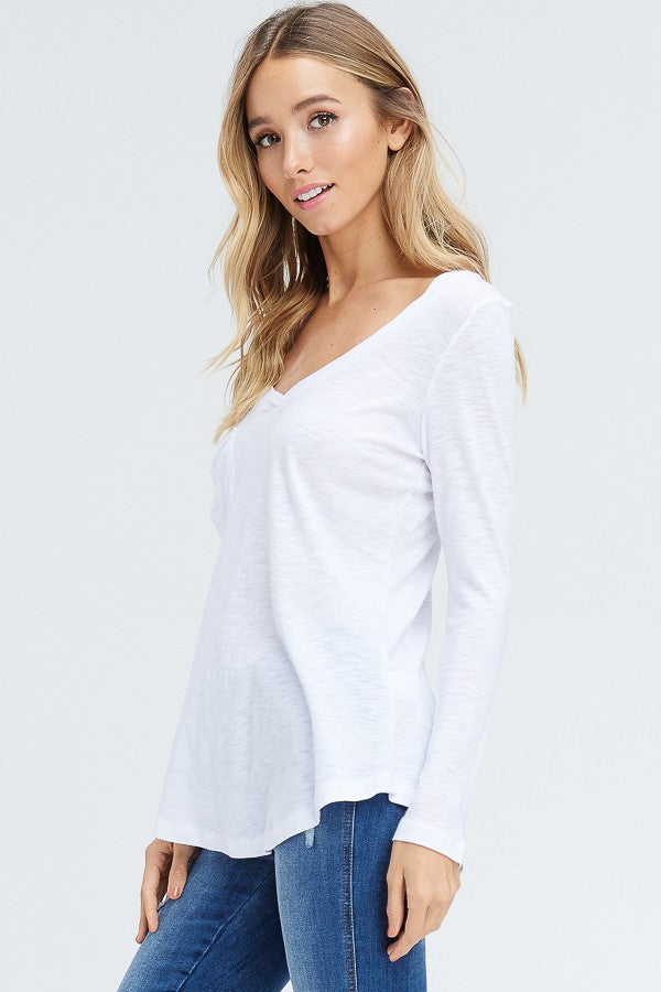 Jessie Long Sleeve Top, White