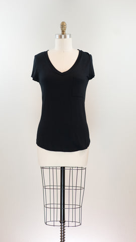 Rachel Pocket Tee, Black