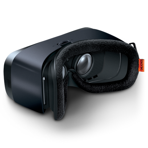 Bionik Face Pad VR for Samsung Gear VR on headset angle view