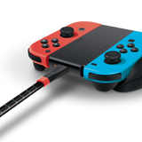 Bionik LYNX charge cable for Nintendo Switch charging Joy-Con controllers angle view