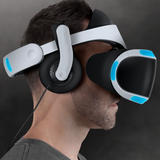 Over-Ear Pads for Mantis for PS4 VR on person side view