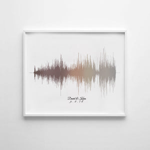 Soundwave Print on Canvas, Nursery Room Art, Baby Nursery Canvas Art | CANVAS