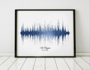 Sound wave Art Print Audio Gram Art Sound | PAPER