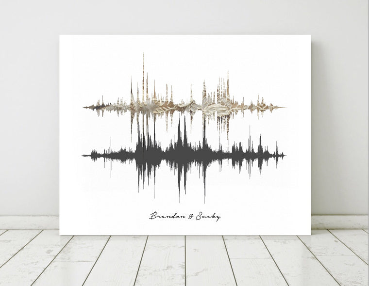 Wedding Vows Sound Wave Prints on Canvas | CANVAS