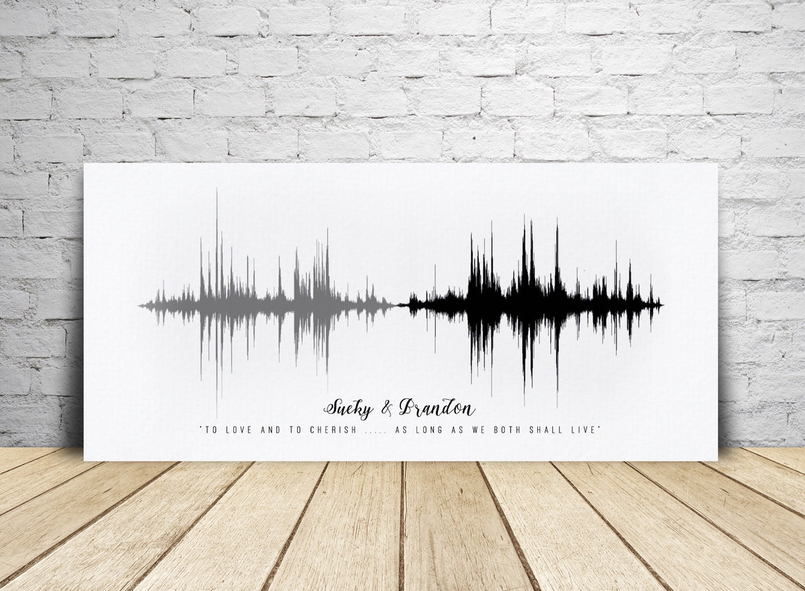Wedding Vows Sound Art on Cotton Canvas | CANVAS
