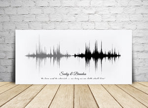 Personalized Cotton Gift, Sound Art on Cotton Canvas | CANVAS