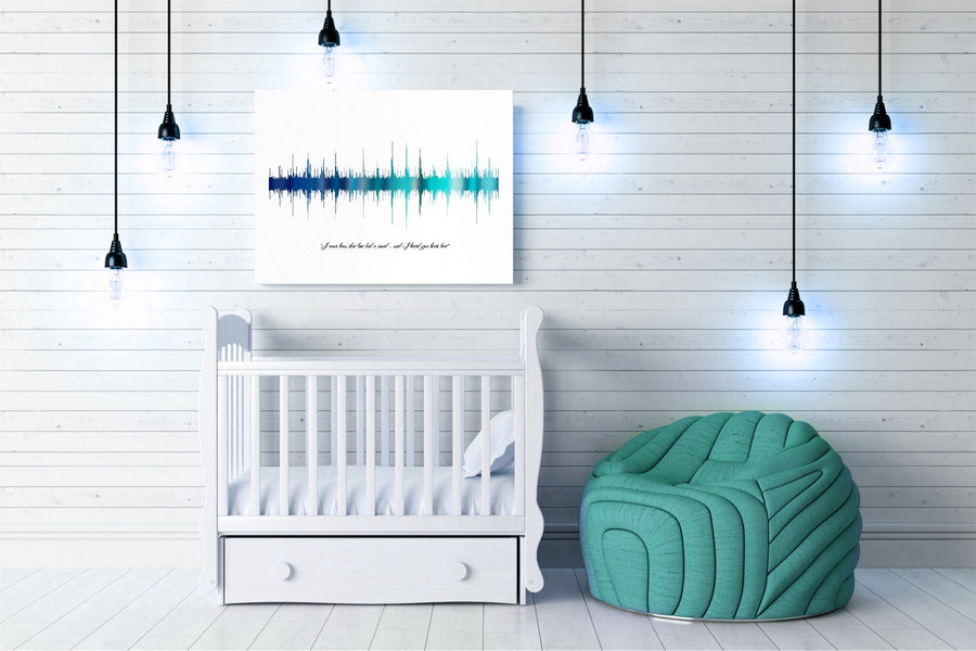 Heartbeat Art, Custom Nursery Art, Soundwave Print on Canvas | CANVAS