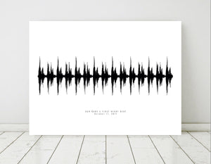 Art for Nursery, Custom Nursery Decor Soundwave | PAPER