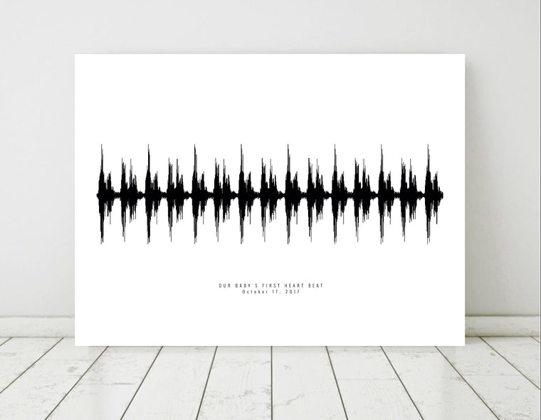 Heartbeat Soundwave Art Print | PAPER