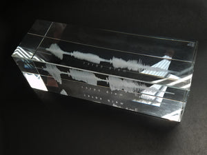 Narrow Crystal Block Sound Wave Plaque | CRYSTAL