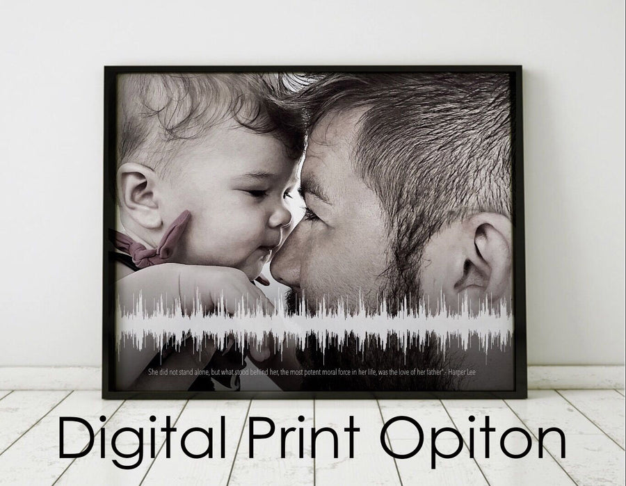 Baby Shower Gift Idea, Short Timeline Digital Option Sound Wave Print | DIGITAL