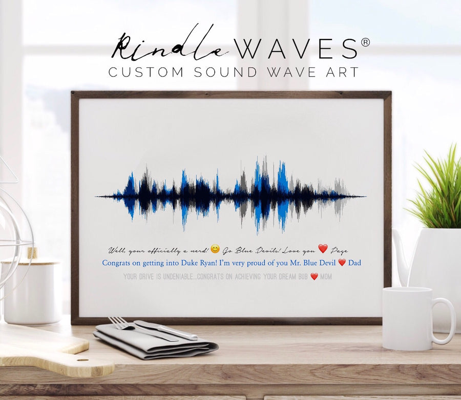 Multi Voice Sound Wave Print on Paper, Grandparent Gift, Godparent Gift Idea | PAPER