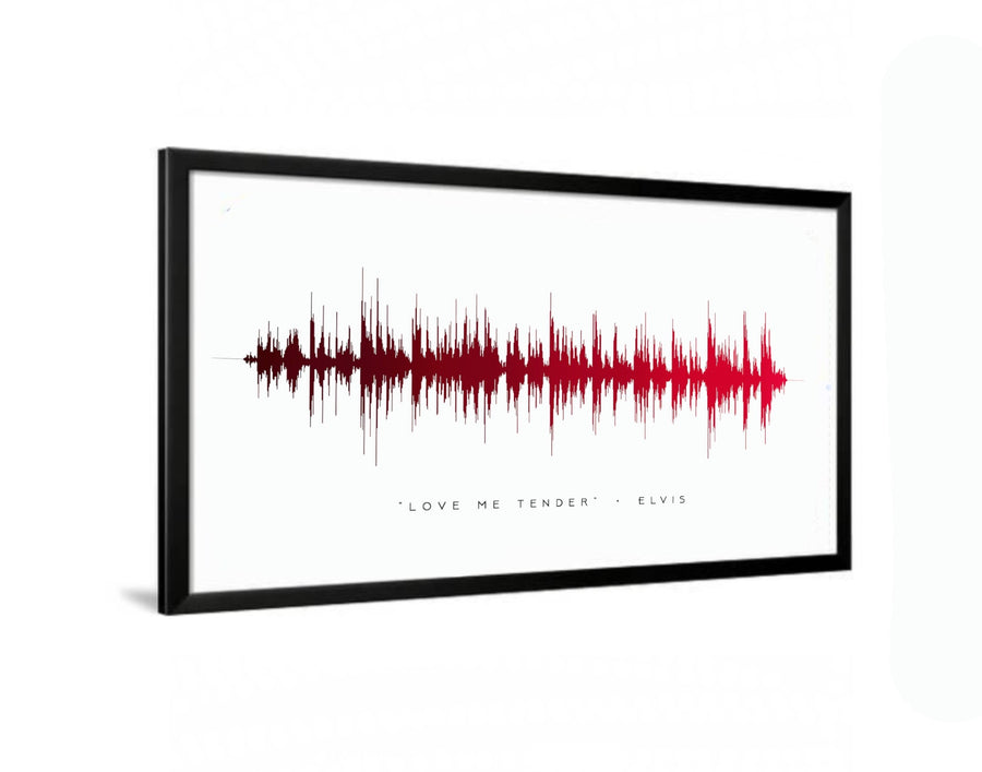 """Love Me Tender"" Elvis Presley Sound Wave Print, Romantic Soundwave Print 