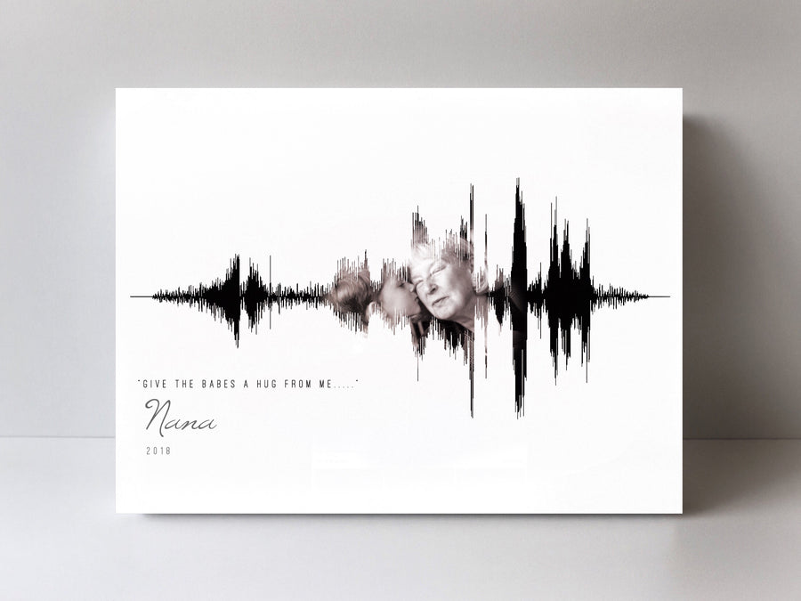 Gifts in Remembrance of a Loved One, In Memory Of Loved One, Soundwave Print on Canvas | CANVAS