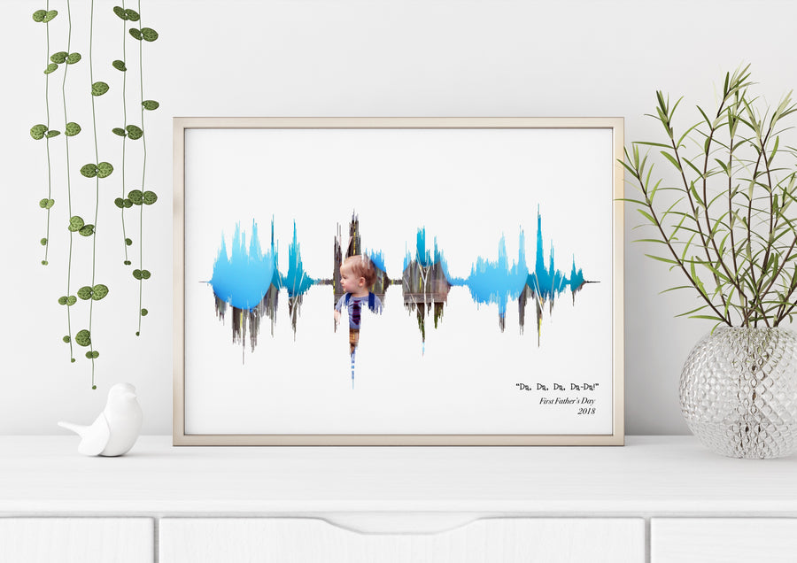 Father's Day Sound Wave Art Custom Art Print | PAPER